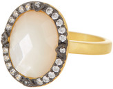 Freida Rothman Two-Tone Mother of Pearl Cocktail Ring - Size 8