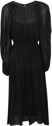 Rochas Long Length Fitted Waist Dress