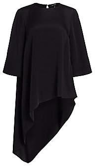 St. John Women's Silk Crepe De Chine Asymmetric Top