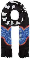 Off White Off-White Thermo Logo Fringed Scarf