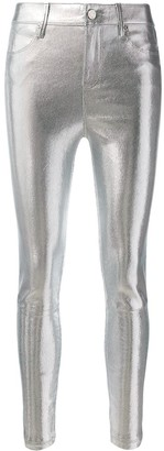 RtA Skinny Metallic Trousers