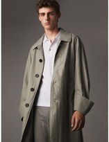 Burberry Unisex Tropical Gabardine Car Coat with Exaggerated Cuffs