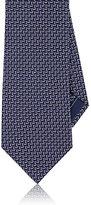 Brioni Men's Step-Bar-Pattern Silk Necktie-PURPLE
