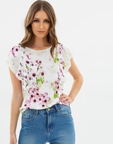Wallis Summer Orchid Ruffle Top