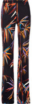 Emilio Pucci Printed Stretch-jersey Wide-leg Pants - Black