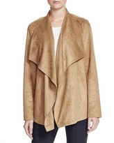 Basler Faux Suede Draped Jacket