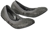 Mossimo Women's Vanessa Scrunch Ballet Flat with Sparkle - Pewter