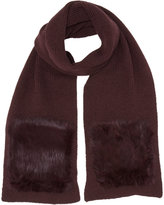 Hat Attack Fur-accented Long Scarf