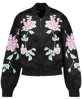 3x1 Wj Embroidered Satin Bomber Jacket
