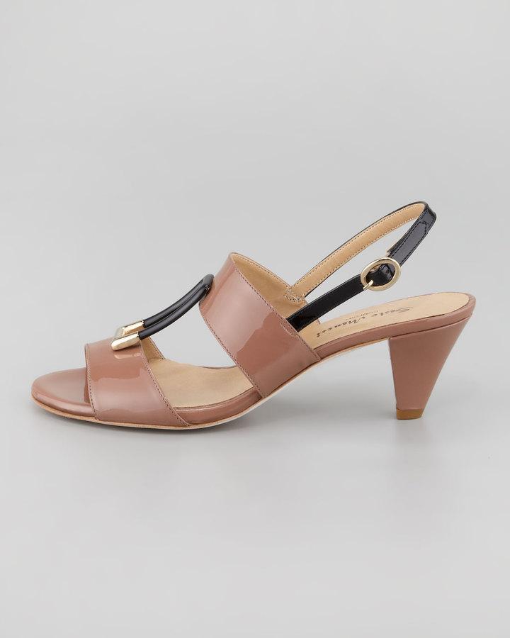 Sesto Meucci Gale Patent Slingback Sandal, Rust