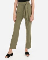 Express High Waisted Paperbag Ankle Pants