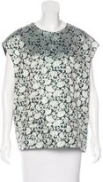 Dries Van Noten Short Sleeve Brocade Top