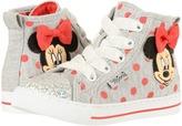 Josmo Kids - Minnie Polka Dot Jersey Hi Top Girl's Shoes
