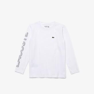 Lacoste Boys' SPORT Breathable Cotton T-shirt