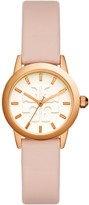 Tory Burch GIGI WATCH, BLUSH LEATHER/ROSE GOLD-TONE, 28MM