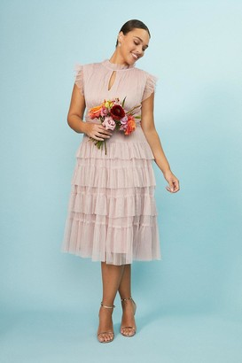 Coast Curve Tulle Tiered Frill Sleeve Dress