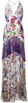 Roberto Cavalli lace detail print dress
