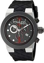 Mulco Men's MW5-2552-025 Couture Analog Display Swiss Quartz Black Watch