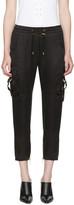 Balmain Black Sateen Cargo Pants