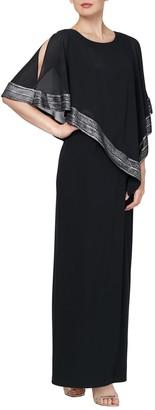 Slny Asymmetrical Overlay Maxi Dress