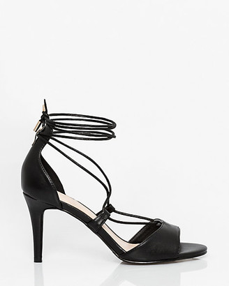 Le Château Faux Leather Ghillie Tie Sandal