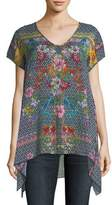 Johnny Was Dolce Drapey Printed Top