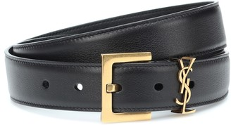 Saint Laurent Monogram leather belt