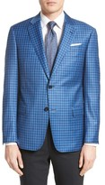 Armani Collezioni Men's G-Line Trim Fit Check Wool Sport Coat