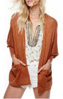 Free People Orange Cardi