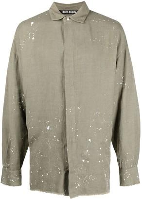 Palm Angels Paint-Splatter Detail Shirt