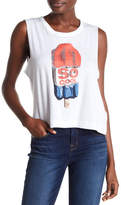 True Religion So Cool Sleeveless Crop Tee