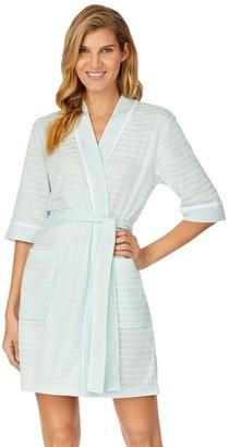 Stan Herman Women's Textured Stripe Kimono Wrap Robe