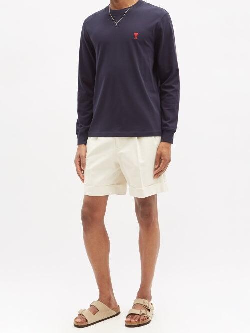 Thumbnail for your product : Ami De Cur-logo Cotton-jersey T-shirt - Navy