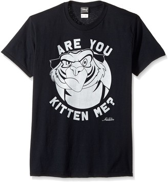 Disney Men's Aladdin Angry Rajah are You Kitten Me Graphic T-Shirt