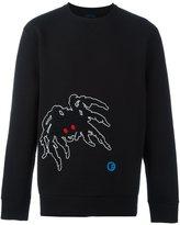 Lanvin ribbed spider detail sweatshirt