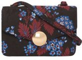 Dorothy Perkins Womens Black Jacquard Lock Cross Body Bag- Black