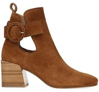 Via Spiga Darcie Cutout Suede Ankle Boots