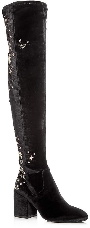 Ash Women's Eros Embellished Velvet Over-the-Knee Boots