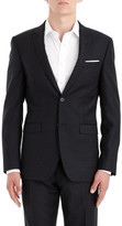 Joe Black 2b Sb Sv Fl Fr Wool Pin Spot Peak Suit