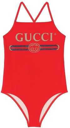 Gucci Kids Logo one-piece swimsuit