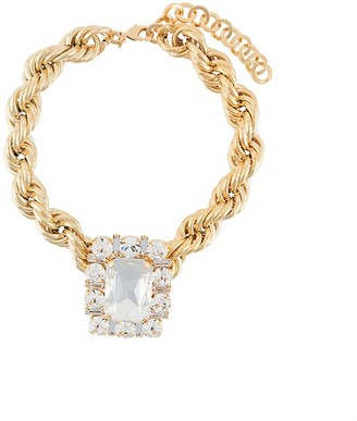 Alessandra Rich Crystal Twist Choker