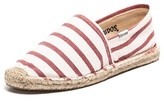 Soludos Classic Stripe Espadrilles in White and Red