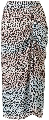 SUBOO Amelie animal-print skirt