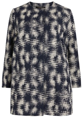 Marina Rinaldi Round Neck Jacquard Jacket