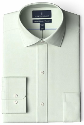Buttoned Down Amazon Brand Classic Fit Spread-collar Pinpoint Non-iron Dress Shirt
