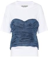Junya Watanabe Denim and cotton top