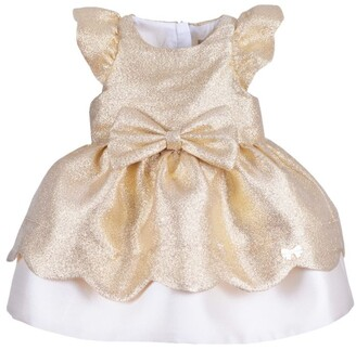 Hucklebones London Glitter Scalloped Dress And Bloomers Set (3-18 Months)