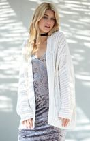 La Hearts Cable Stitch Open Front Cardigan