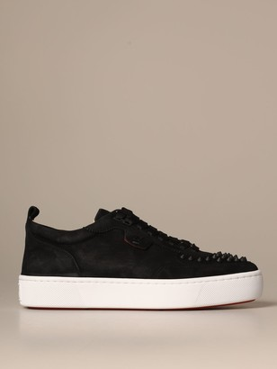 Christian Louboutin Happy Rui Sneakers In Suede With Studs