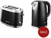 Swan Kettle And 2-Slice Toaster Pack - Black